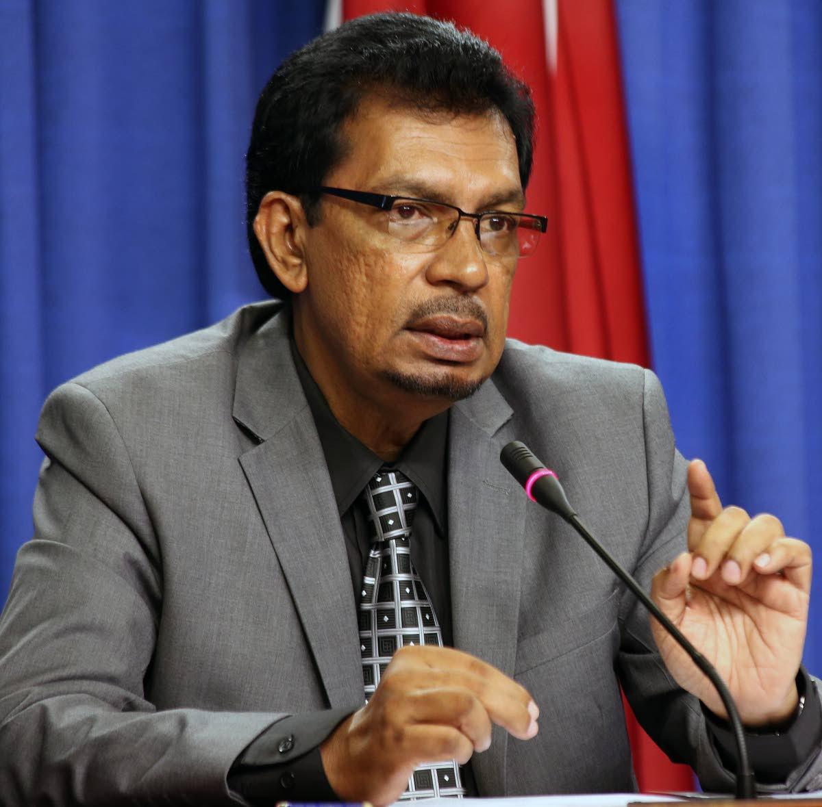 Minister of Rural Development and Local Government Kazim Hosein