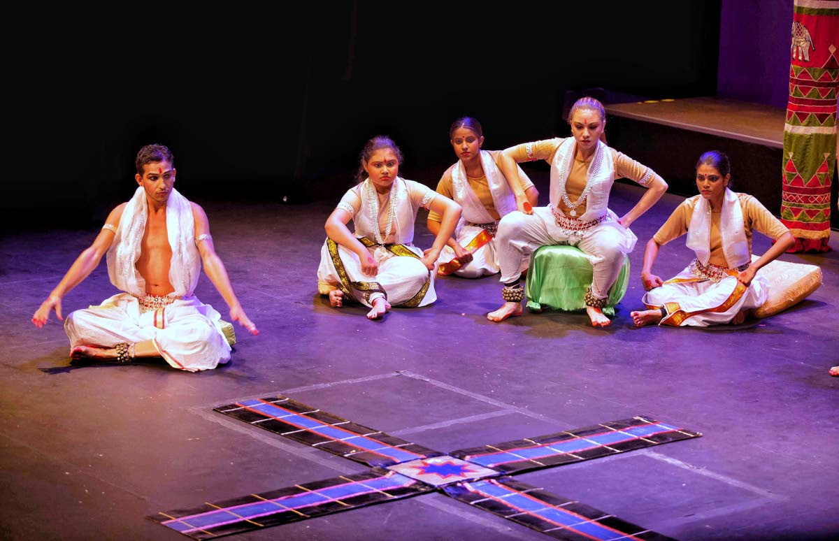 Students of the Nrityanjali Dance Theatre in The Divine Flute 2015.