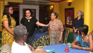 TT tourism stakeholders benefit from French Caribbean Road Show in November 2016: (Standing left) Tourism Minister, Shamfa Cudjoe, interacts with President of the Tobago Incoming Tour Operators Association (TTITOA), Lorraine Pouchet, and members of the Martinique contingent who recently visited Trinidad and Tobago, following Trinidad and Tobago's French Caribbean Road Show in Martinique and Guadeloupe, November 15 - 20, 2016. PHOTO COURTESY THE TOURISM MINISTRY