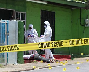 Curtis Smith Jr. aka Birdman murdered in Diego Martin on Monday morning. (Photo by Enrique Assoon, NYLO Intern)