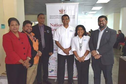Cybersecurity, a field of opportunity for students: Chaguanas Mayor His Worship Gopaul Boodhan (3rd from left) is flanked by Rayan Ramoutar, Consultant with the GSPP; Tracy Hackshaw, Programme Manager & Head of the Programme Execution Unit GSPP; Raj Ramdass, Director RSC International; Sugan Ramdass, Director RSC International; Chrisen Maharaj, Manager, Capacity Building and Programme Financing EXPORTT. PHOTO COURTESY THE MINISTRY OF PLANNING AND DEVELOPMENT.
