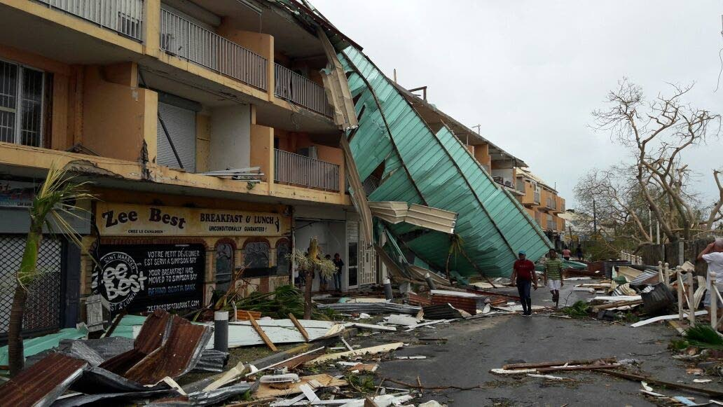 Some of the devastation in other Caribbean islands after Hurricane Irma hit. Pictured here is St Maarten