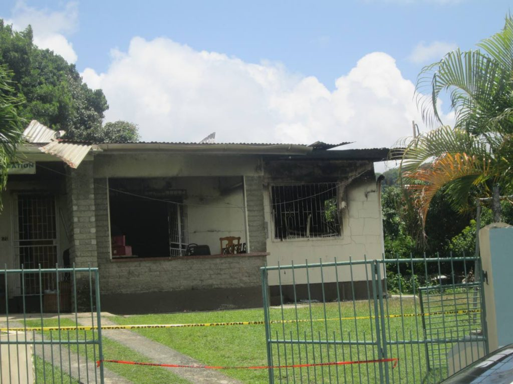The Calder Hall building which housed children in the care of the Family First Foundation, and which was gutted last Friday by fire of unknown origin.