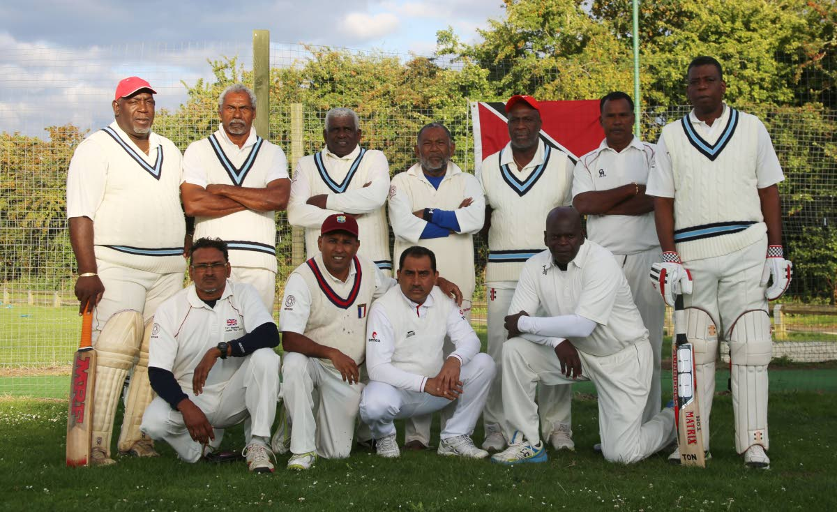Trinidad and Tobago Masters cricket team pose for a photo on their recent tour of England.