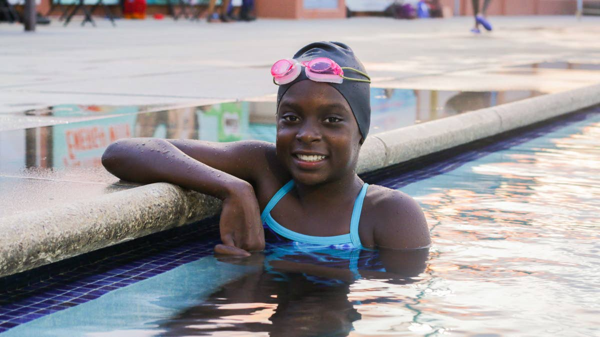 Joy Blackett is making a huge spash in competitive swimming.