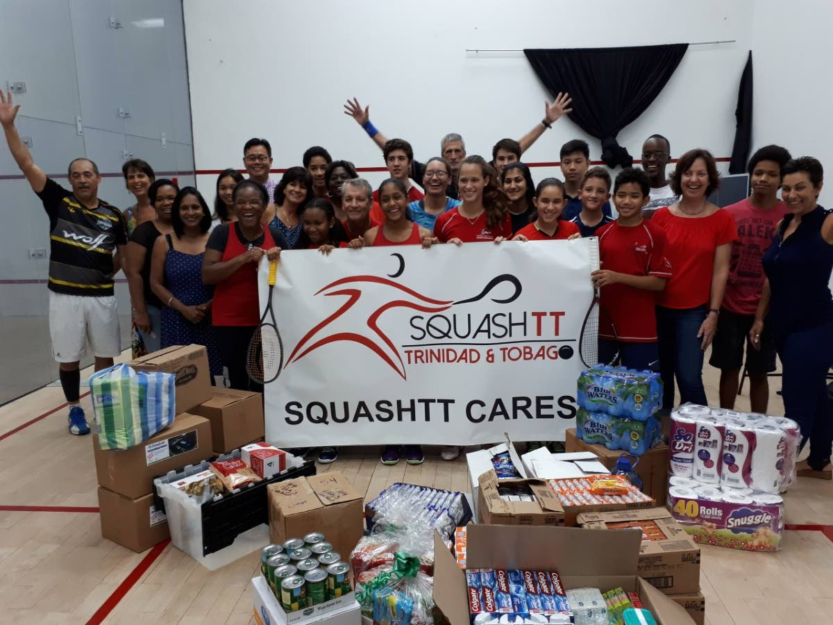 The Trinidad and Tobago Squash Association held a tournament at the Racquet Centre of the Queen's Park Oval to help victims of  Hurricane Irma, yesterday.