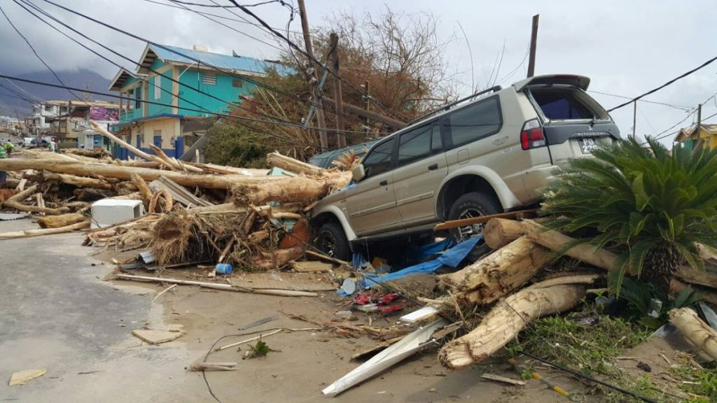 Some of the devastation seen in Dominica after Hurricane Maria