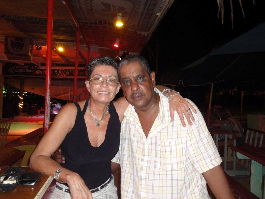 Guy Wilson and his wife Gail enjoying life in St Maarten in 2015.
