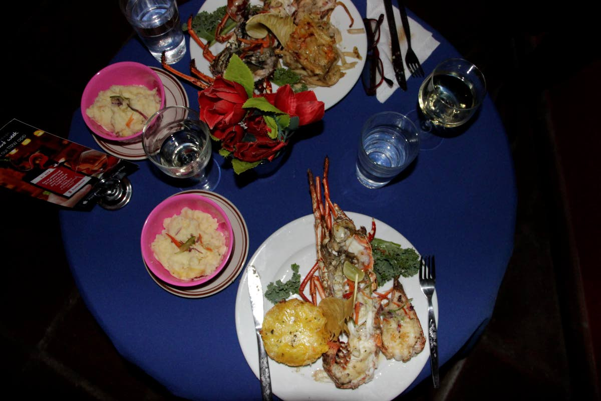 The lobster with garlic butter dish was a hit with diners enjoying the Restaurant Week menu at R& Taste of the Caribbean located at Sandy Point Beach Club Hotel, Crown Point.