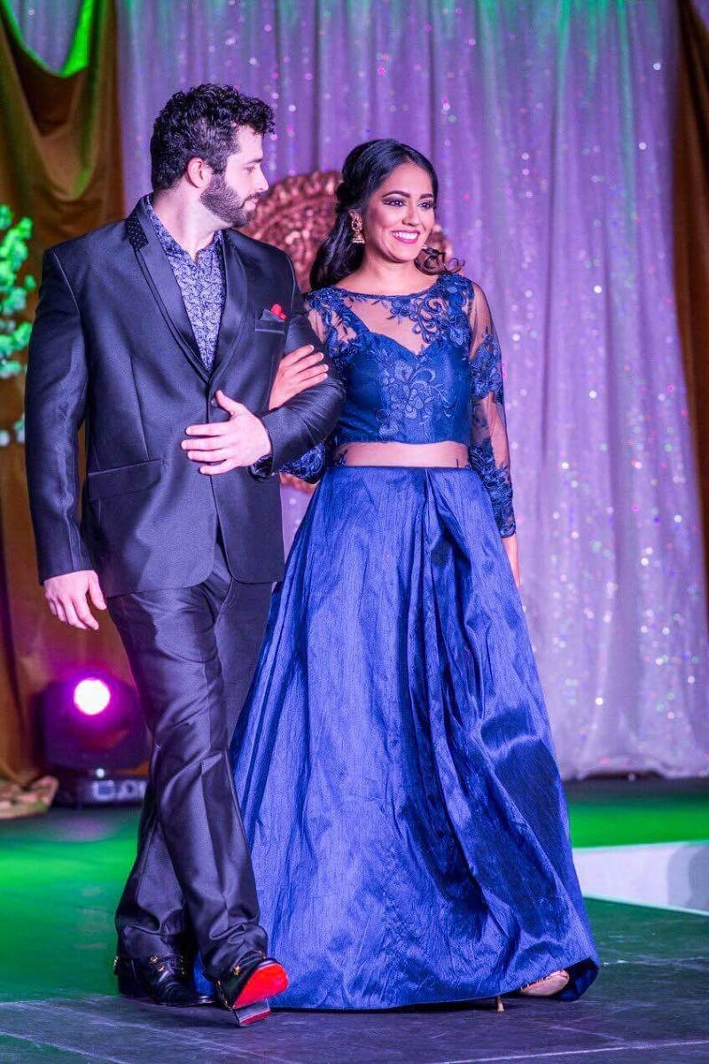 Date night designs from Neha Karina's Rabta Collection, unveiled during a love story fashion show at Hilton Trinidad on September 30, 2017.
