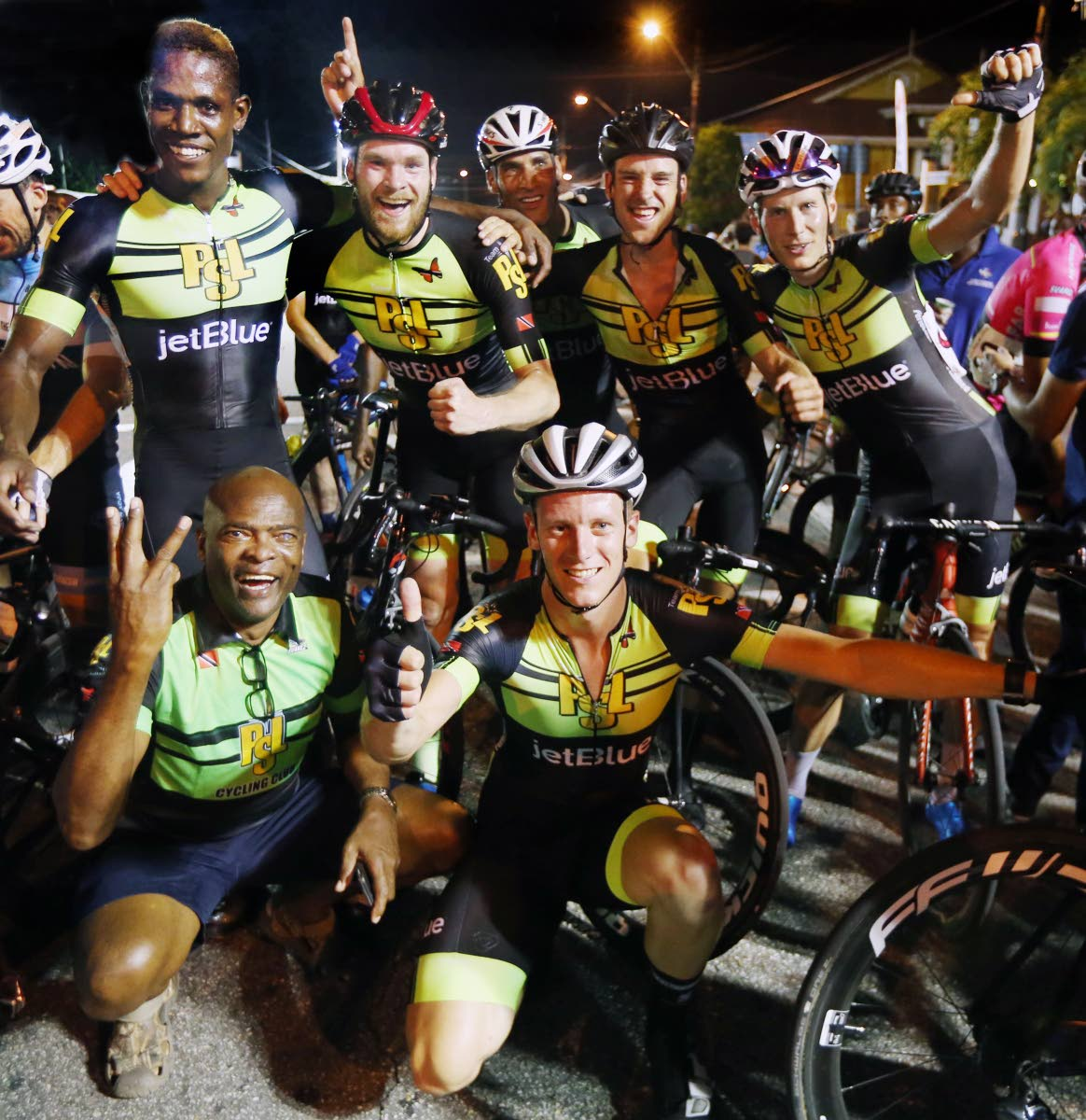 Members of the Team PSL after competing at the Beacon Cycling on the Avenue event on Wednesday night.