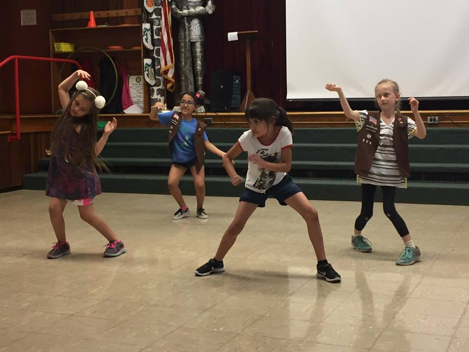 Children show off their moves.