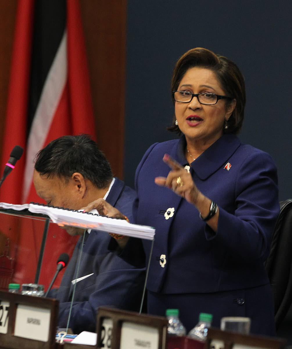 Opposition Leader Kamla Persad-Bissessar. PHOTO BY RATTAN JADOO.