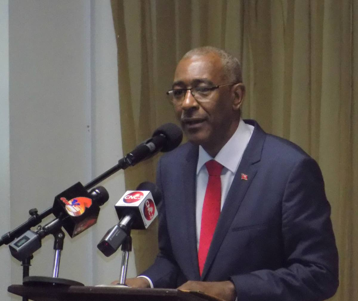Minister of Public Utilities Robert Le Hunte. PHOTO BY SHANE SUPERVILLE.