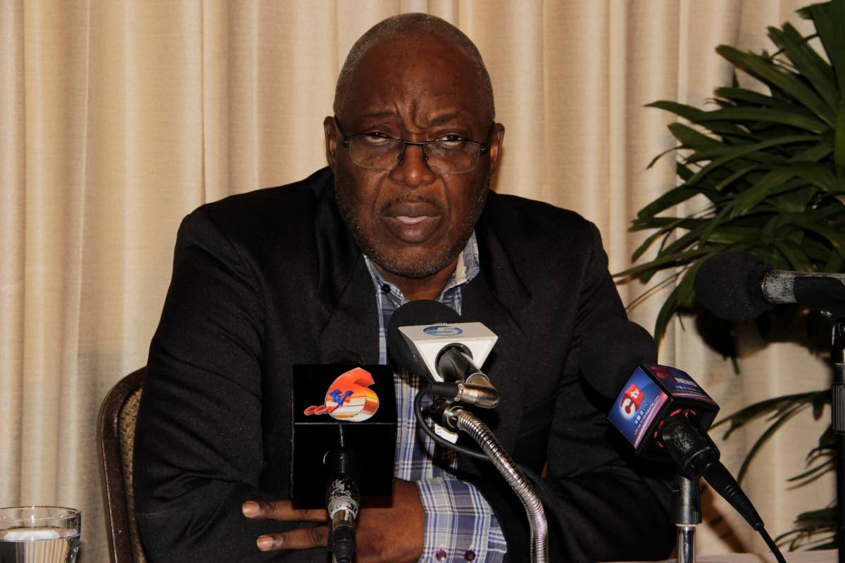 Tobago House of Assembly (THA) Chief Secretary Kelvin Charles speaks at a press conference on Saturday at the Mt Irvine Bay hotel following a two-day retreat by THA secretaries to discuss the 2018 national budget and its implications for Tobago