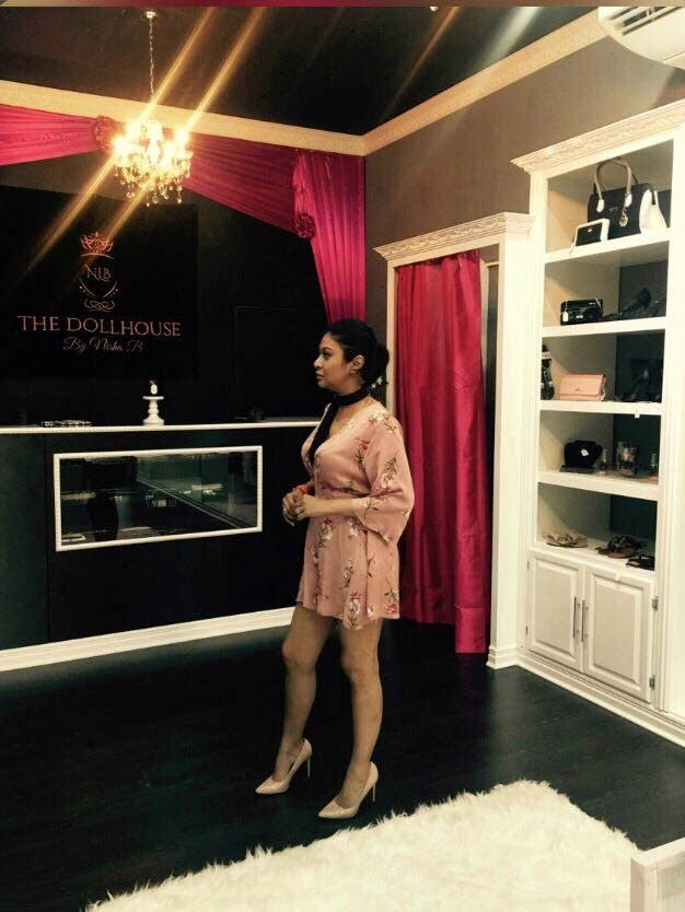 Chutney soca star Nisha Bissambhar in her clothing boutique 'The DollHouse by Nisha B' which was broken into by thieves on Monday night.