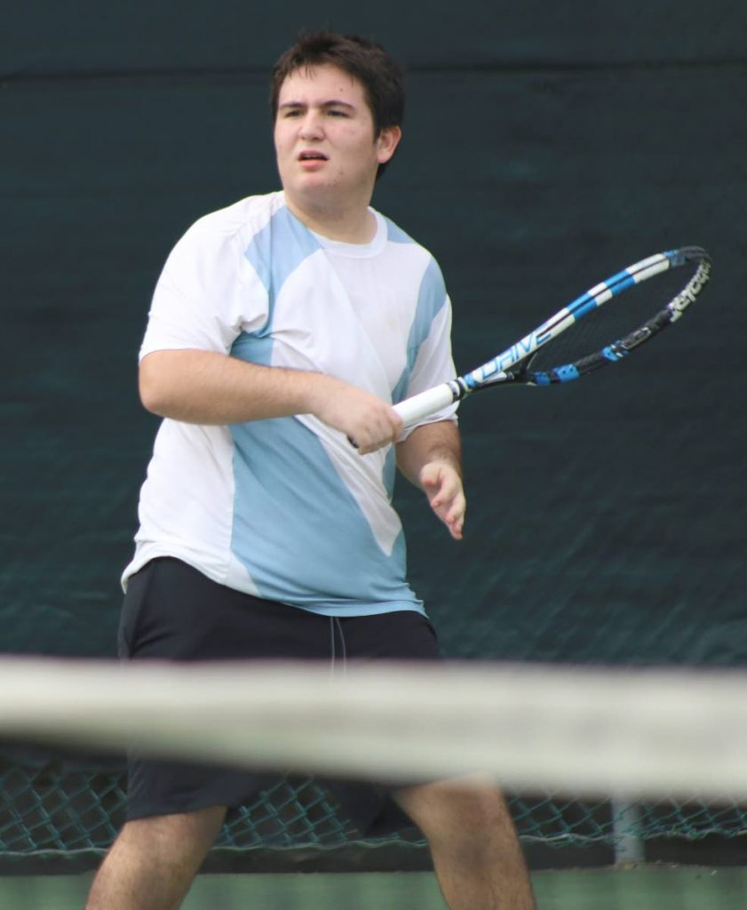 FLASHBACK: Adam Escalante in action in the Boys Under-18 division of the Subway Junior Tennis last year.  The U-18 division serves off next weekend.