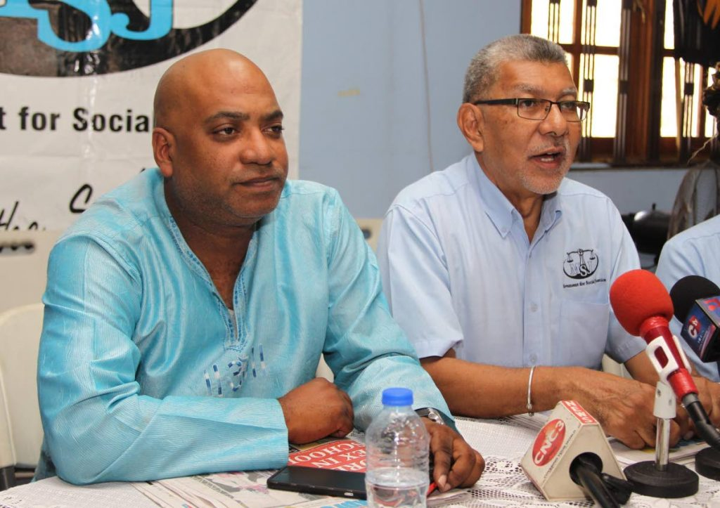 MSJ political leader David Abdulah and general secretary Ozzie Warwick.