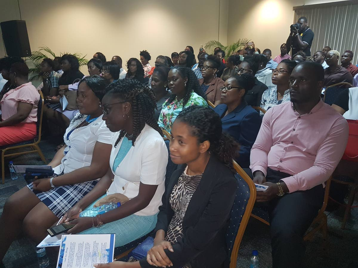 A cross section of attendees at Monday's Thanksgiving Service at the Victor E Bruce Financial Complex in Scarborough to start Finance Week.