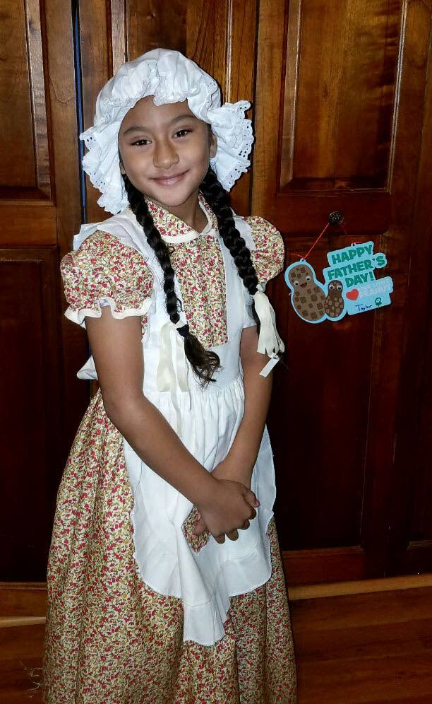 Taylor Marie Lee in costume as a Dutch girl.