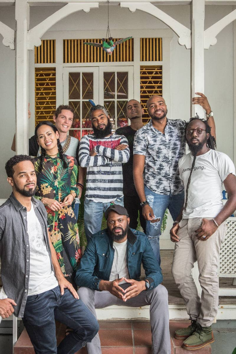 NoGreaterTime group from left: Kes Dieffenthallar, Anya Ayoung Chee, Oliver Milne, Muhammad Muwakil, Neel Dwala, Darryl Gervais, Lou Lyons. In the middle: Keron (Sheriff) Thompson