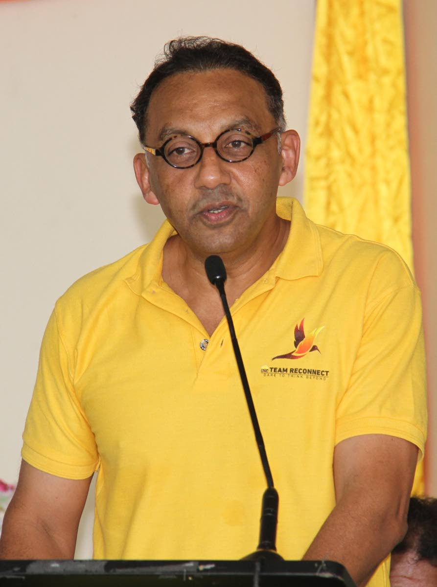 NO MORE COMPETITION: Vasant Bharath, the main challenger to Kamla Persad-Bissessar for the leadership of the United National Congress, has officially pulled himself out of the race.