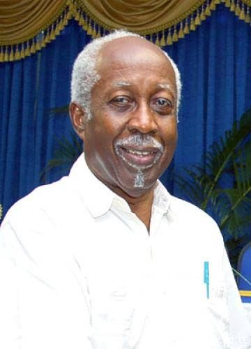 Former head of the Public Service Reginald Dumas.