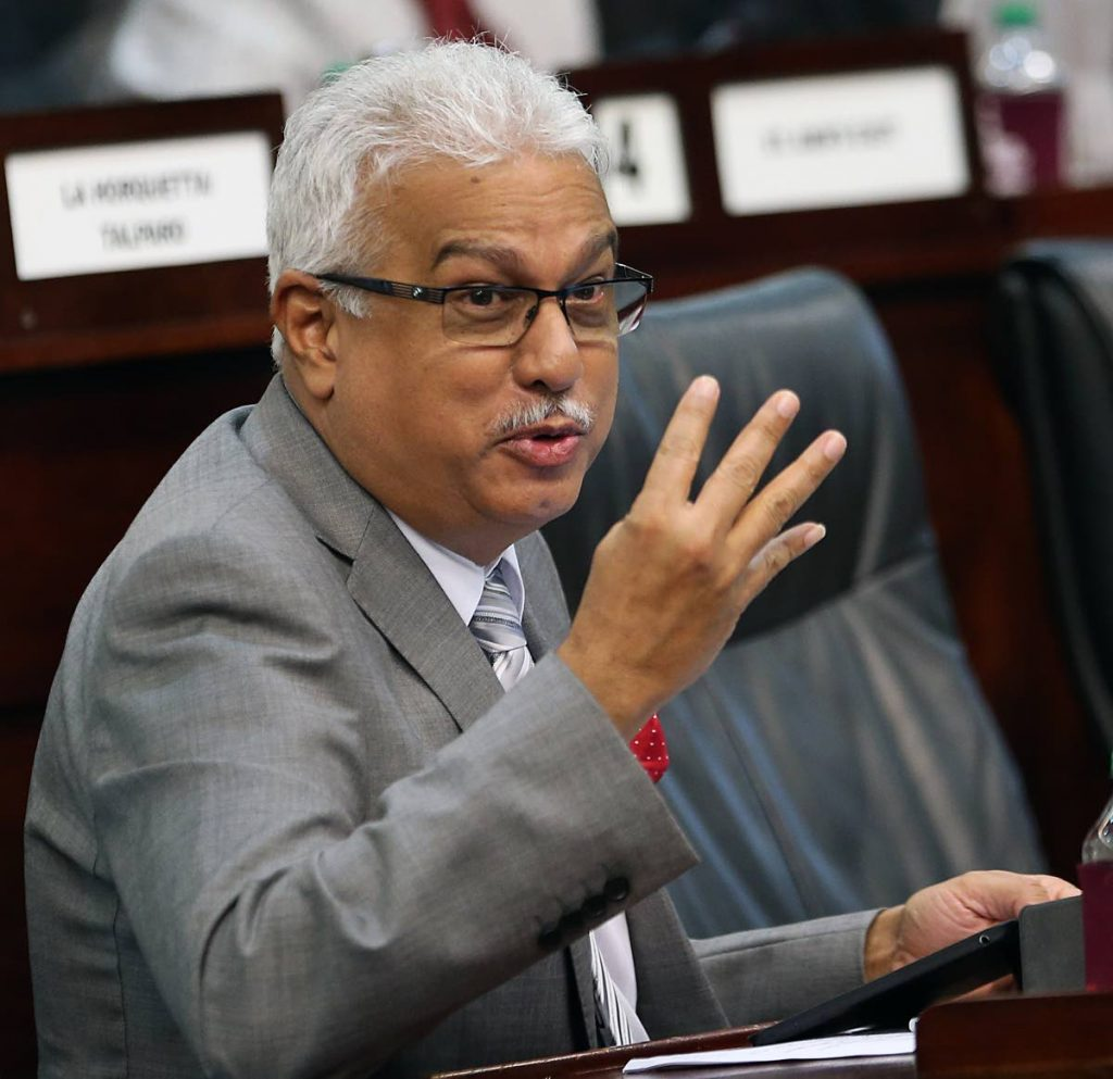 Minister of Health Terrance Deyalsingh couldn't be reached for comment on this issue. PHOTO BY AZLAN MOHAMMED.