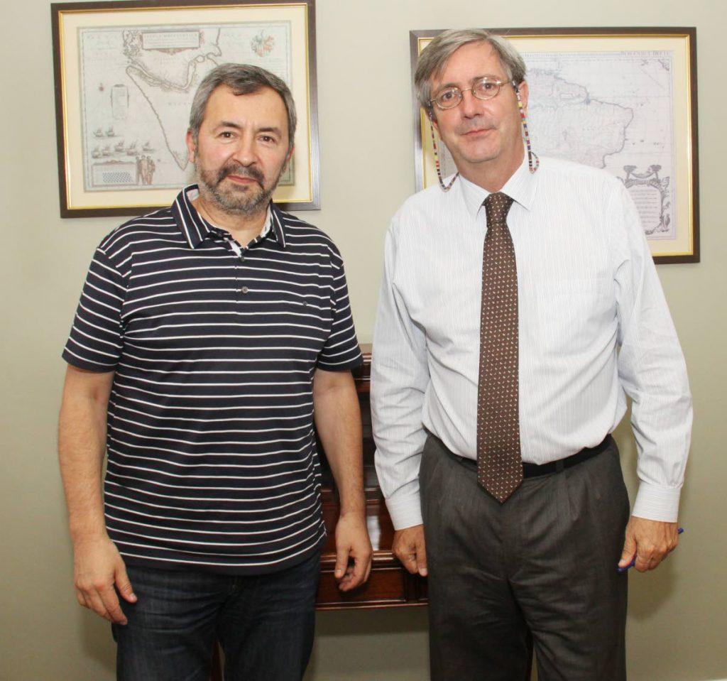 Author Marcelo Simonetti  and Chilean Ambassador Fernando Schmidt .