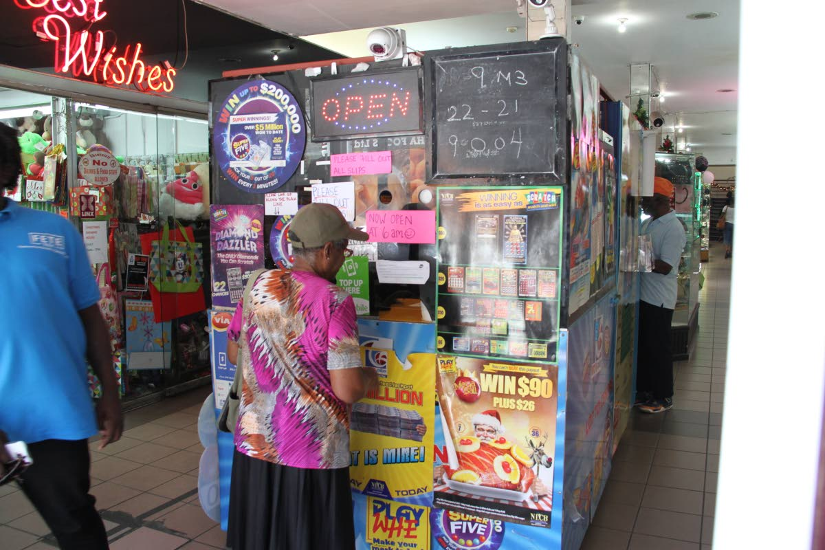 Gambling has earned the National Lotteries Control Board (NLCB) a $300 million profit for 2016/17. PHOTO BY SUREASH CHOLAI.