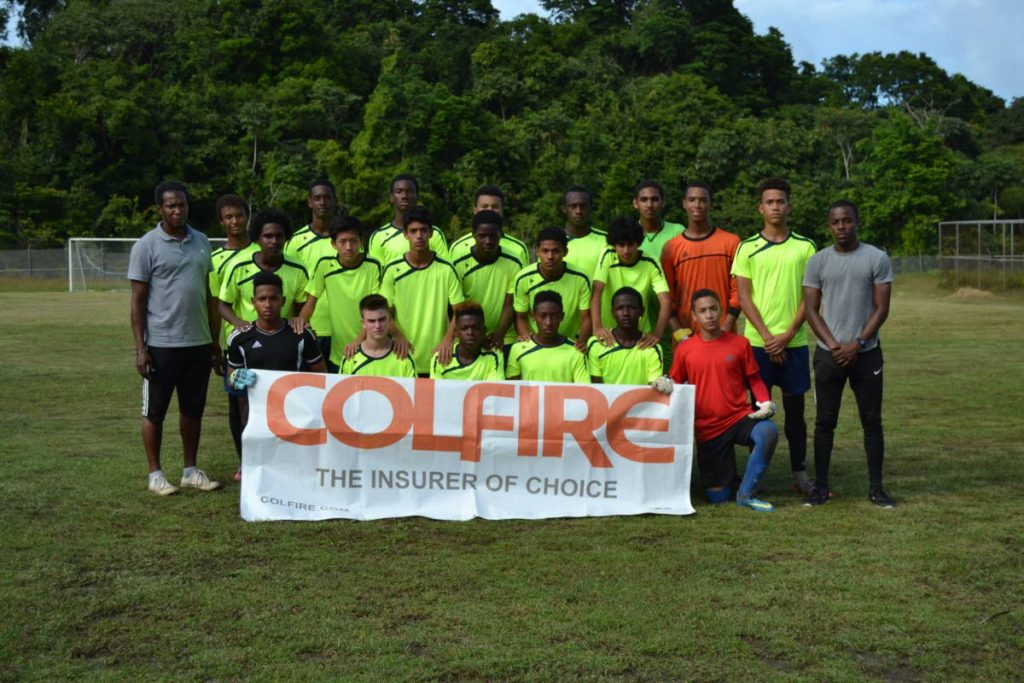 The North Under-15 team, sponsored by COLFIRE, in La Fillette on Saturday to play a friendly match.