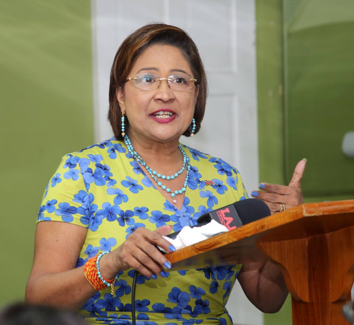 Opposition Leader Kamla Persad Bissessar.