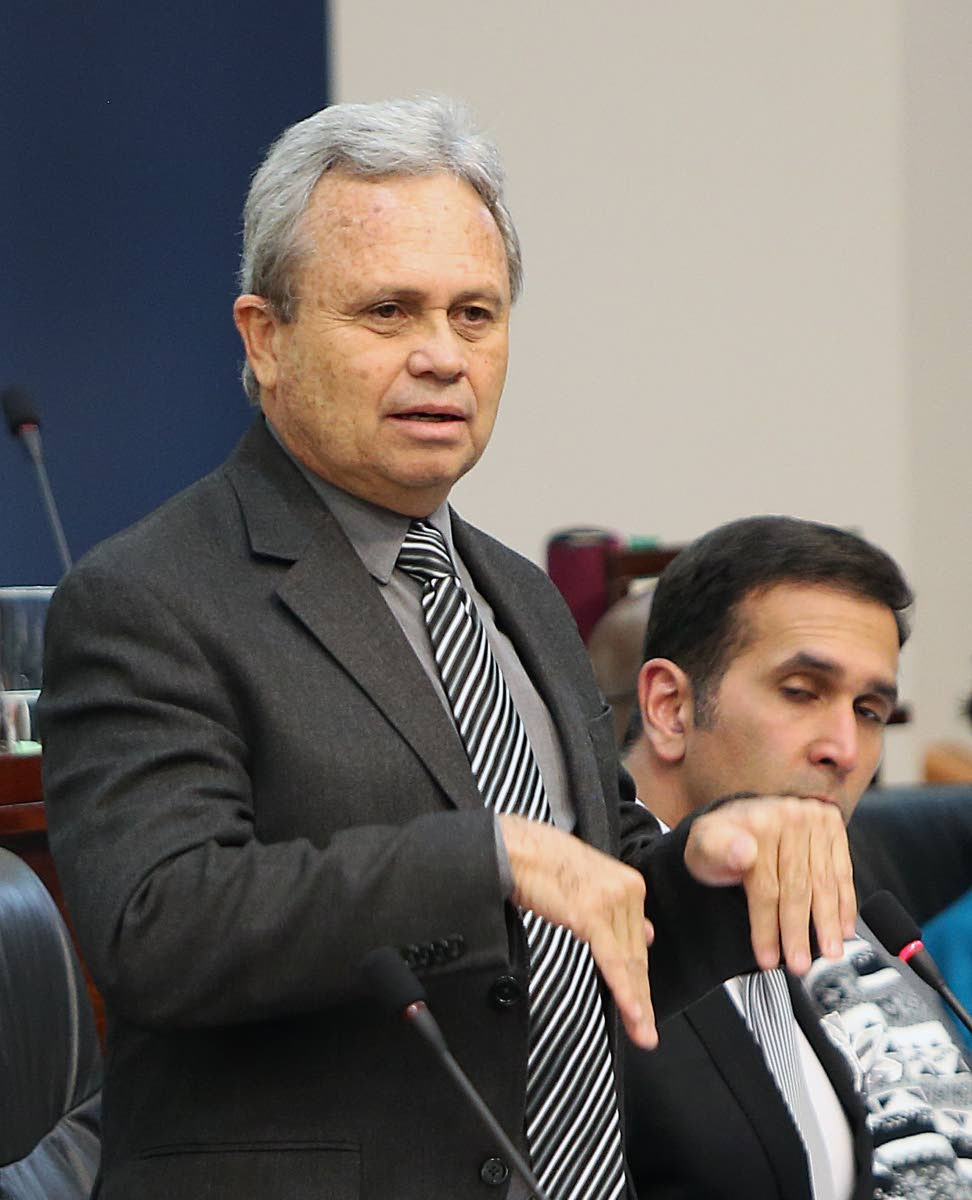 Finance Minister Colm Imbert PHOTO BY AZLAN MOHAMMED