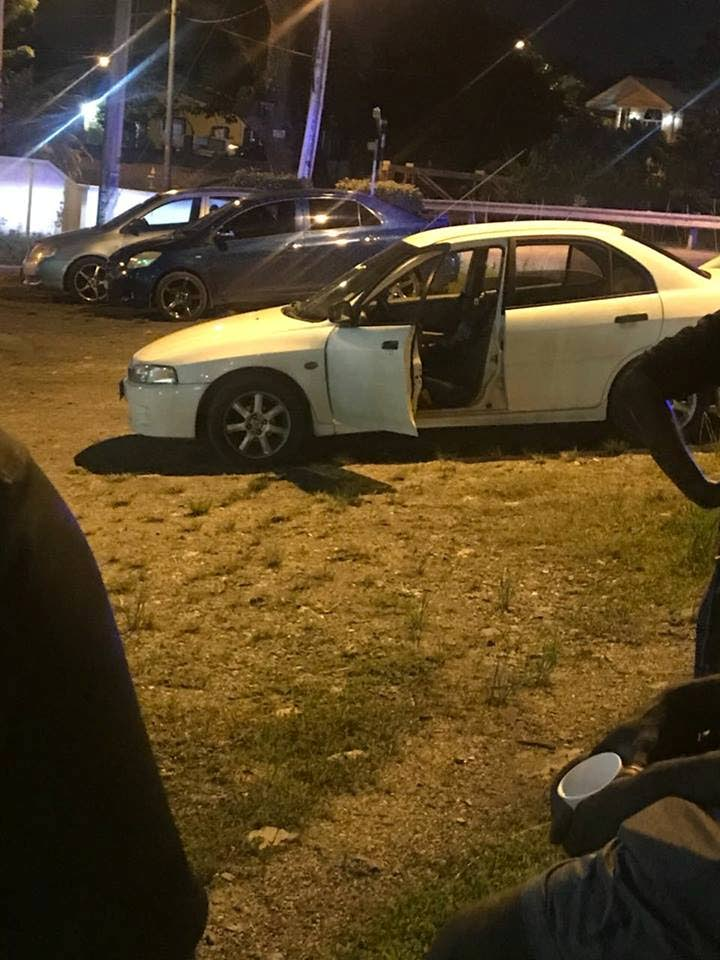 The vehicle of 37-year-old Dave Babwah who was shot and killed near his Aranguez home last night.