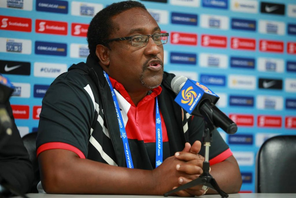 TT U-20 women's head coach Jamaal Shabazz addresses the media following the team's 2-1 defeat to Costa Rica which was the team's third straight defeat.