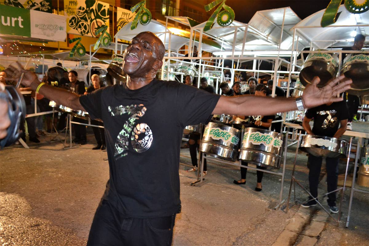 An ecstatic Duvone Stewart during a BPTT Renegades performance. File photo.