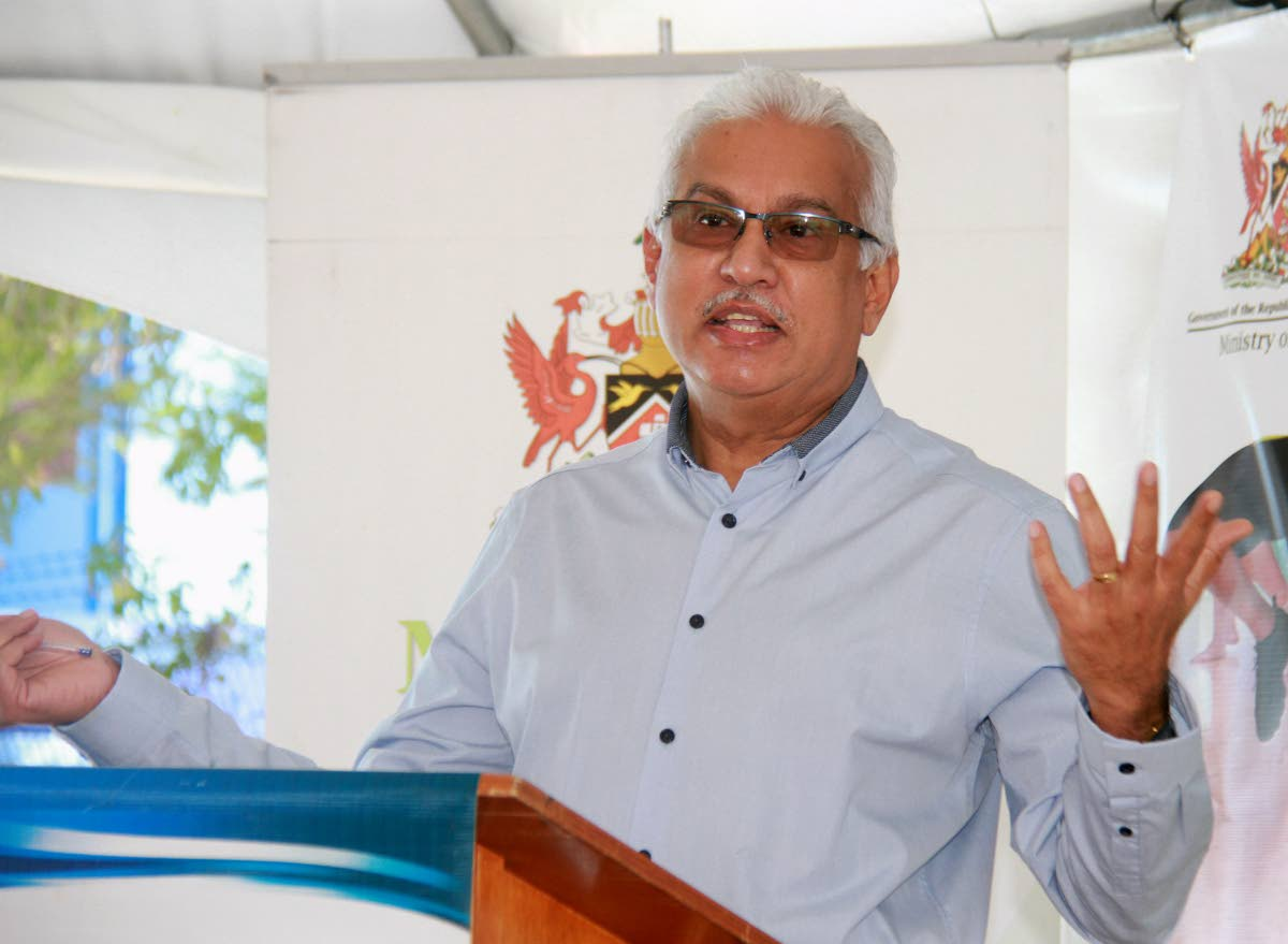 Minister of Health Terrence Deyalsingh.  PHOTO BY ANIL RAMPERSAD.