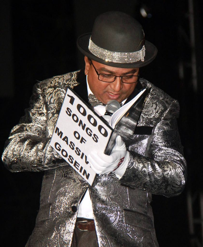 "Upset over his third place in Saturday's Chutney Soca Monarch competition at Skinner Park, San Fernando, Nermal ""Massive"" Gosein is vowing never to take part again."