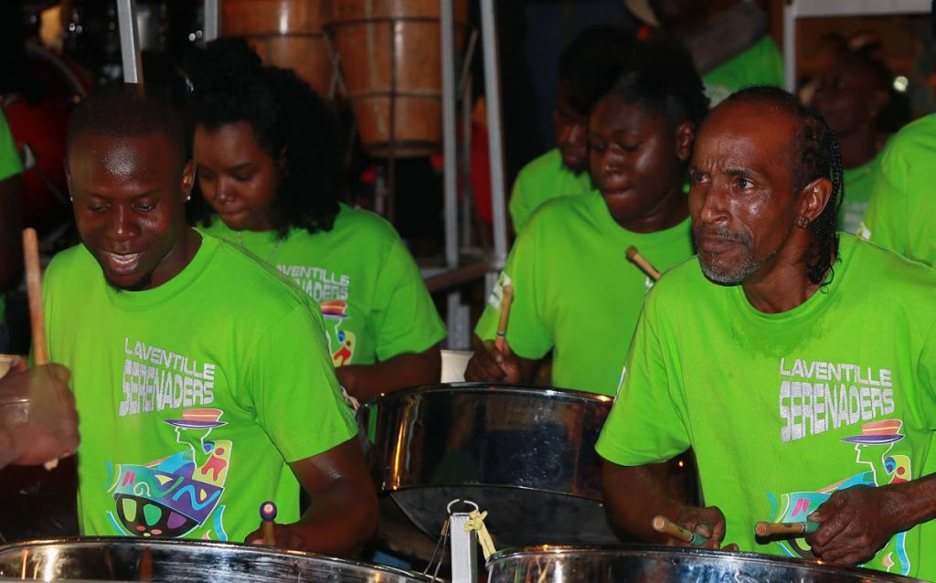 TOP OF THE PACK: Laventille Serenaders emerged ahead of their rivals at the National Panorama (small bands) semi final on Saturday at Victoria Square, Port of Spain.   PHOTO BY AZLAN MOHAMMED