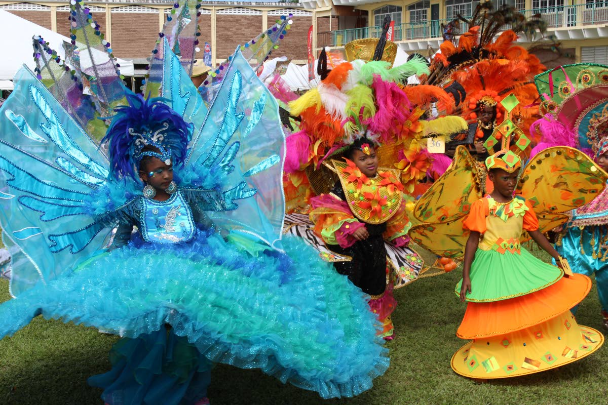 Some of the masqueraders who participated in the St Anthony's College annual kiddies Carnival parade at the school's Westmooring grounds yesterday.