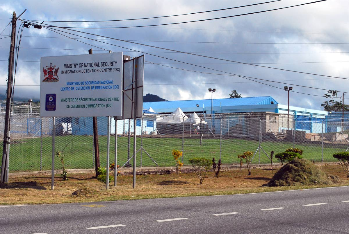 HOME AWAY FROM HOME: The Immigration Detention Centre in Aripo, the home away from home for dozens of foreign nationals whose native governments are unwilling to foot the bill to have them deported. FILE PHOTO