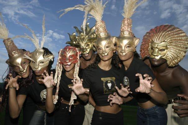 GENERATION Lion Jouvay masqueraders don the popular Lion masks.