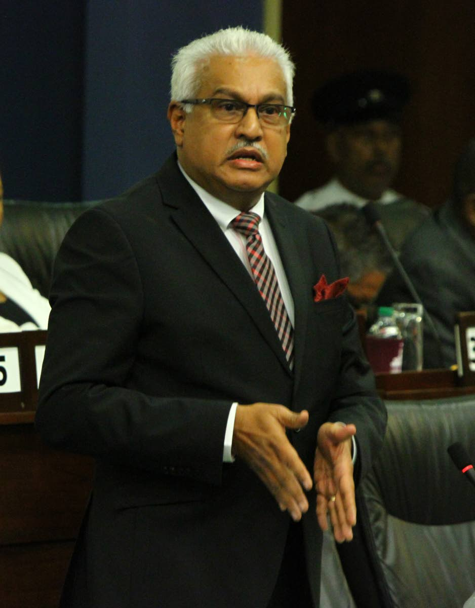Health Minister Terrence Deyalsingh. FILE PHOTO
