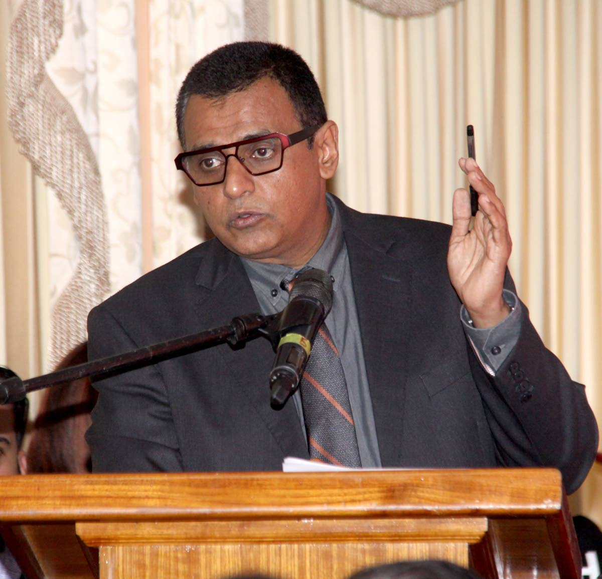 Minister of Works & Transport Rohan Sinanan. Photo: Angelo Marcelle