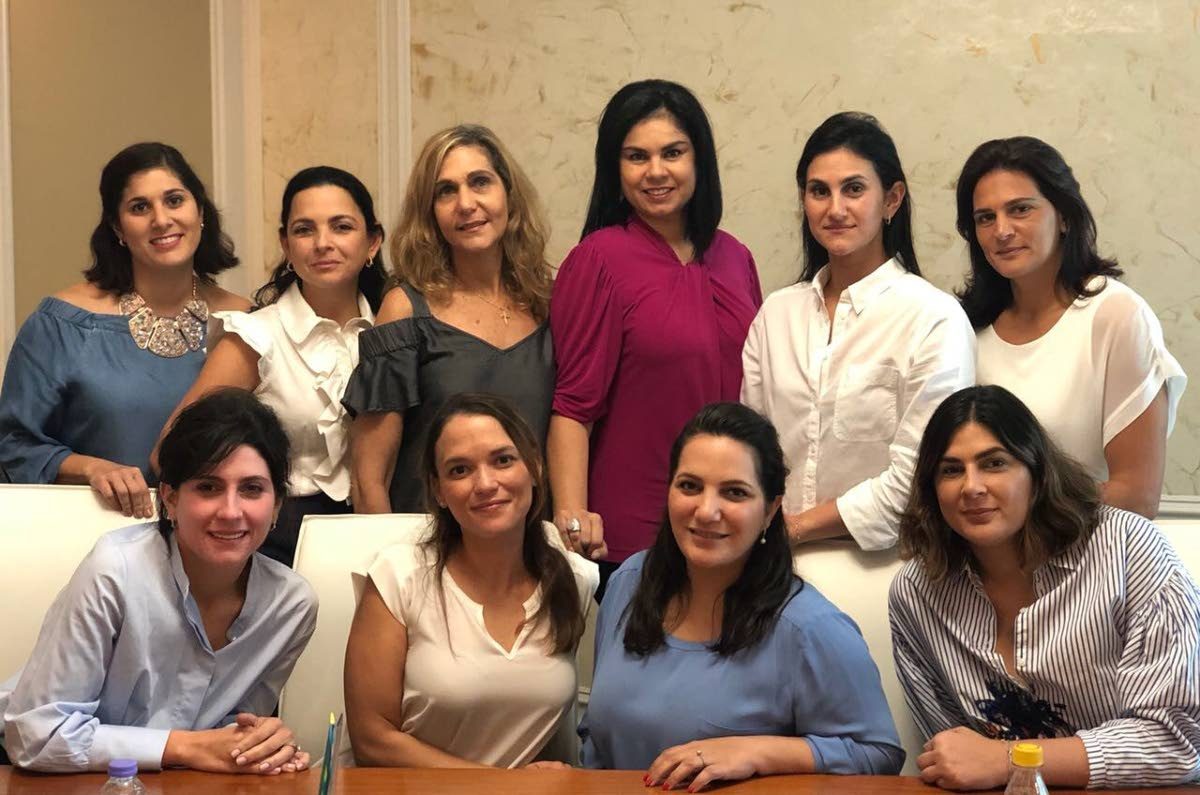 The 2018 Syrian Lebanese Women's Associationexecutive committee.  Back row  from left are  Amanda Rahael, Sofia Laquis, Gina Haidar, Karen Antoni-Koury, Justine Aboud-Chamely and Kimberly Haloute.  In front row from left: Genevierve Hadeed, Alicia Chamely, Stephanie Abraham and Melissa Moses.