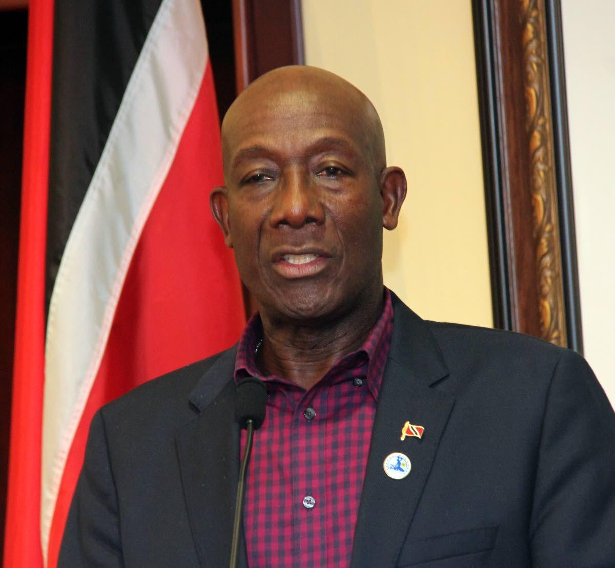 PM Dr Keith Rowley.