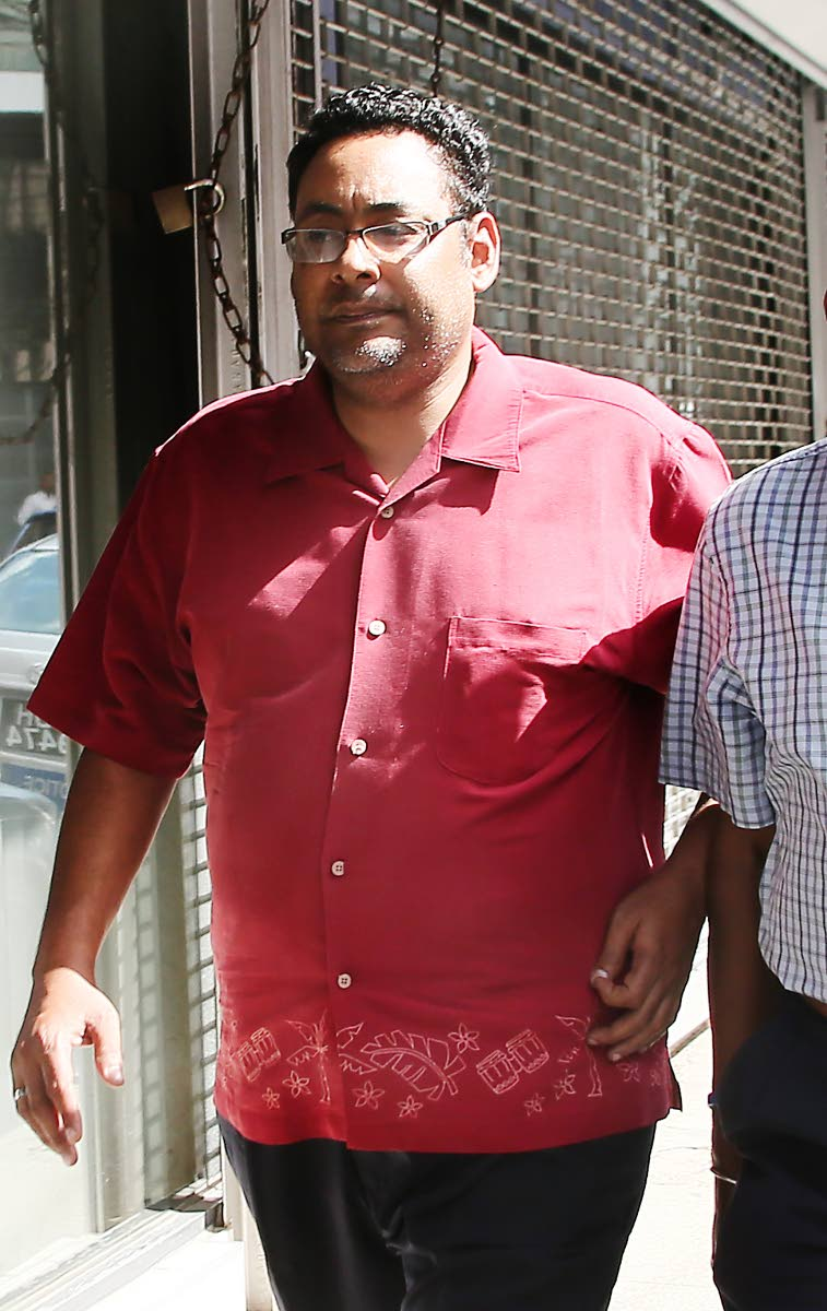 Albert Sydney posted bail on a sexual assult charge at the PoS Magistrate courts. PHOTO BY AZLAN MOHAMMED