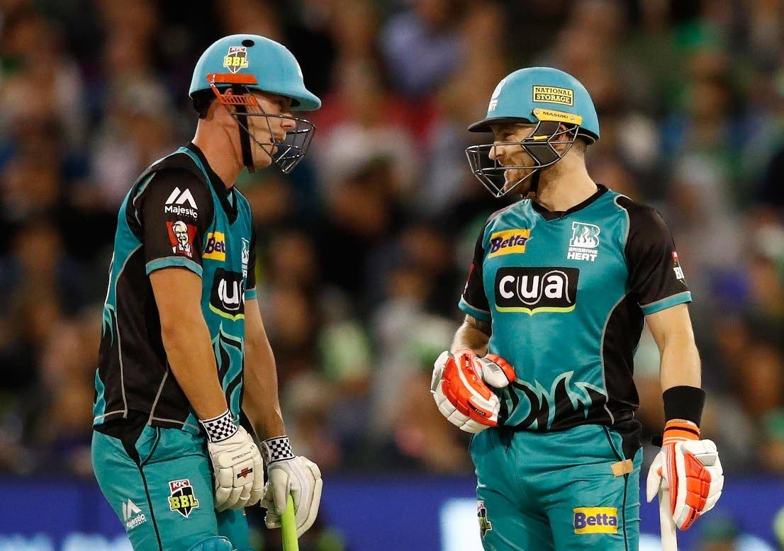 BASH BROTHERS: Australian Chris Lynn,left, and New Zealand's Brendon McCullum will be joining the Trinbago Knight Riders for the August 8 - September 16 for the 2018 Hero Caribbean Premier League T20 tournament.
