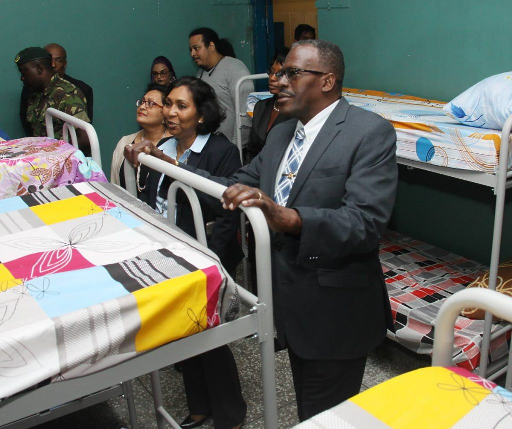 Flashback: National Security Minister Edmund Dillon during a tour of the refurbished Immigration Detention Centre in Aripo.