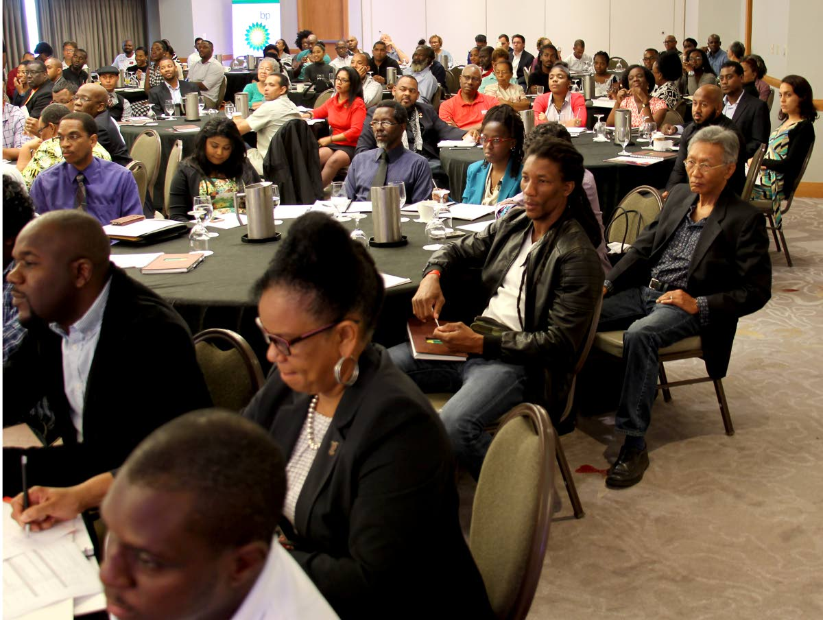 Participants at the third Annual TT Olympic Committee Sport Industry TT Conference at the Hyatt Regency, on Thursday.